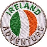 Club of Heroes 2 x Irland Abzeichen 60 mm gestickt/Ireland Adventure/Aufnäher Aufbügler Sticker Wappen Patches für Kleidung Rucksack/Reiseführer Abenteuer Flagge Fahne Land