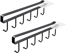 Hebudy 2 unidades cubiertos sin perforaci/ón pinturas para toallas Ganchos para colgar debajo de estantes