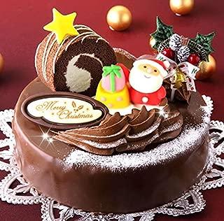 ロールノセタ 6号サイズ クリスマスケーキ2019 【 12/22~12/23】のお届け 昭和風味 チョコレートケーキ