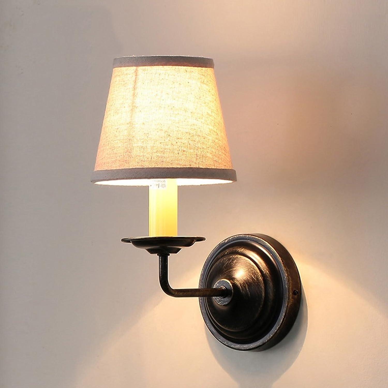 QARYYQ Einfache Schlafzimmerwandlampe Fernsehhintergrundwandlampe Nachttischlampenwand des amerikanischen Landes Wandleuchte