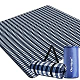 AerWo Extra Large Outdoor Picnic Blankets, Waterproof Foldable Picnic Blanket with Carrying Bags, 3 Layers Material Picnic Mat Perfect for Kids Family Friends, Beach Travel Camping Hiking, 80'x80'