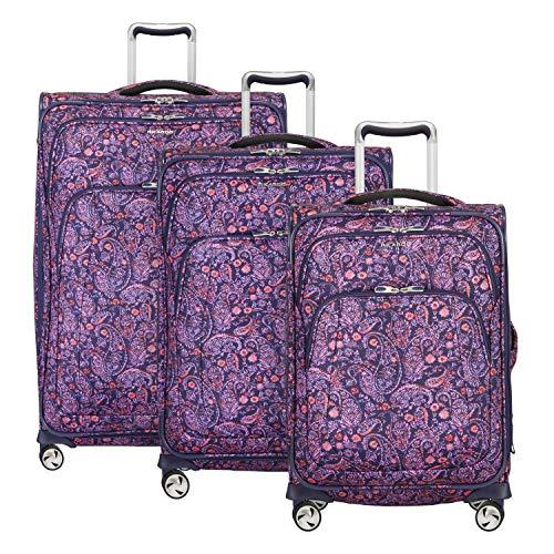Ricardo Seahaven 3-Piece Luggage Set Paisley Pink with FREE Travel Kit