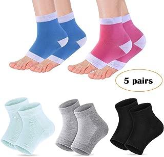 Heel Moisturizing Socks - ChainPlus Moisturizing Gel Heel Sleeves Toeless Spa Gel Socks, Humectant Moisturizer Heel Balm Foot Treatment Care Heel Softener