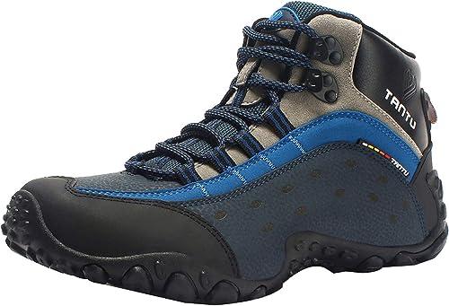 Insun Herren Trekking Schuhe Wanderschuhe Rutschfeste Kletterschuhe Sportschuhe Fitness Schuhe Leichte Laufschuhe