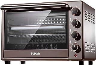 Horno pequeño para el hogar, horno eléctrico multifunción para hornear automático, 38L de gran capacidad, máquina para hornear pasteles al vapor de escritorio, cuatro perillas