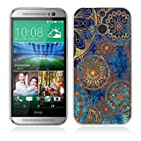 One M8 / M8S Hülle Case, Fubaoda [Mandala-Kreis] Ultra-Clear HTC One M8 / M8S Case Silikon Soft TPU Premium Handyhülle Case Backcover Bumper Slim case für HTC One M8 / M8S