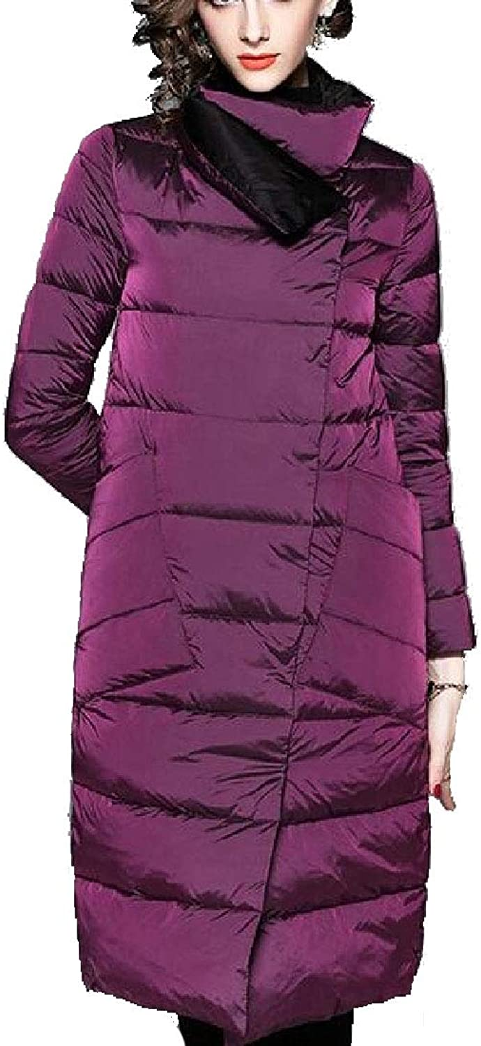 Desolateness Women's Coat Winter Coat Warm Long Thick Slim Lapel Jacket Overcoat
