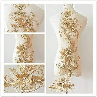 gold lace appliques