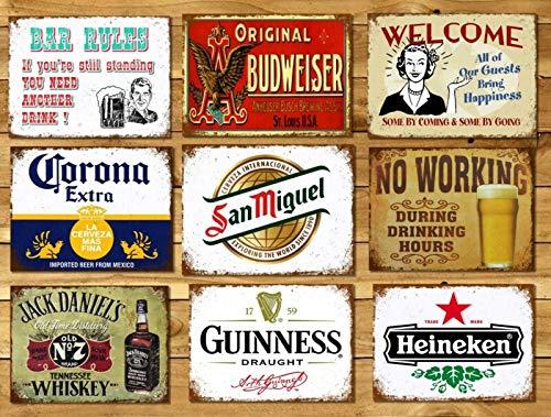 Yilooom Metalen borden Plaques Vintage Retro Stijl Bier Bar San Miguel Mancave Thuis Muur