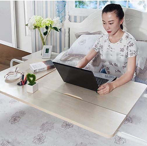 Table pliante réglable Table de Chevet Mobile Simple Bureau d'apprentissage Ordinateur Bureau 2 Couleurs Taille facultative en Option Peut être tourné (Couleur   Teak Couleur, Taille   600  800mm)