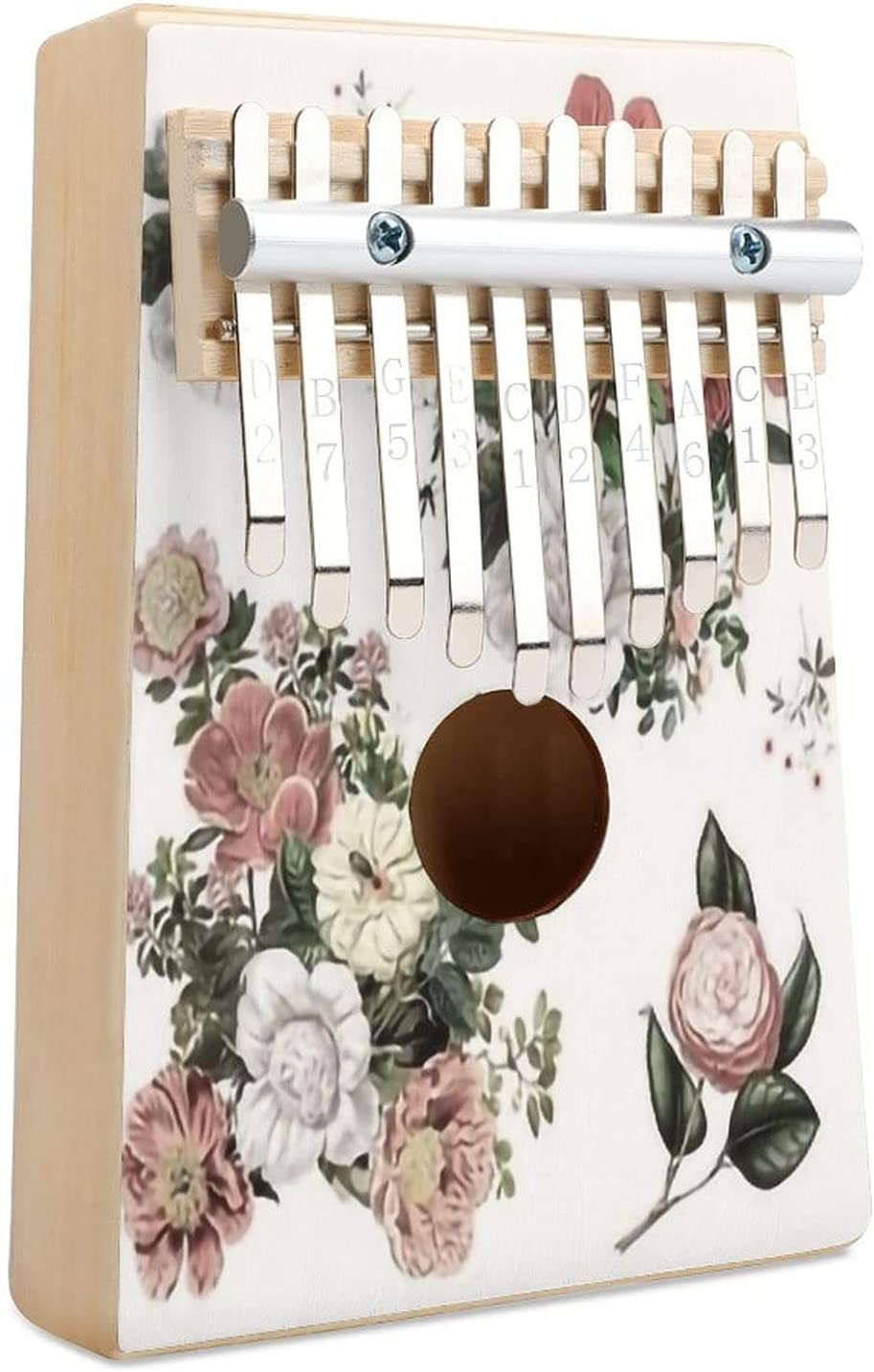 8 Heirloom Florals White Limited Special Price Kalimba Finger Key 10 Thumb Financial sales sale Piano