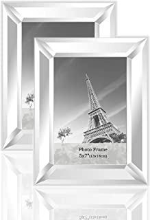 meetart Mirrored Picture Frame 5x7inch 2 Piece Pack for Home Decoration Wall Hang or Tabletop Display