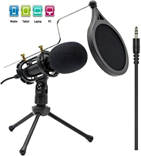 Condenser Recording Microphone 3.5mm Plug and Play PC...