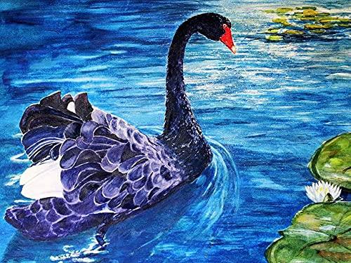 Puzzle-Cisne Negro Rompecabezas para Adultos Niños 1000 Piezas Juego de Rompecabezas de Madera para Regalos Decoración del hogar 70x50cm