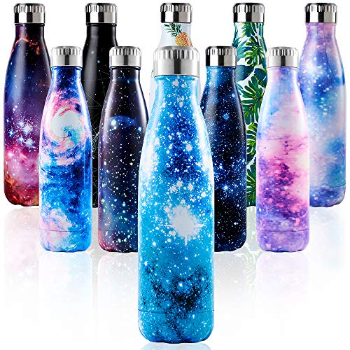 Enlifety Water Bottle for Hot and Cold Drinks 500ml | BPA-Free Stainless Steel | Double Walled Vacuum Insulated | Reusable Metal Water Bottle | Keeps Cold for 24 Hrs, Hot for 12 Hrs