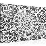 Bilder Mandala Wandbild 120 x 80 cm Vlies - Leinwand Bild