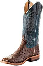 Anderson Bean Mens Kango Tabac Mad Dog Full Quill Ostrich Cowboy Boot