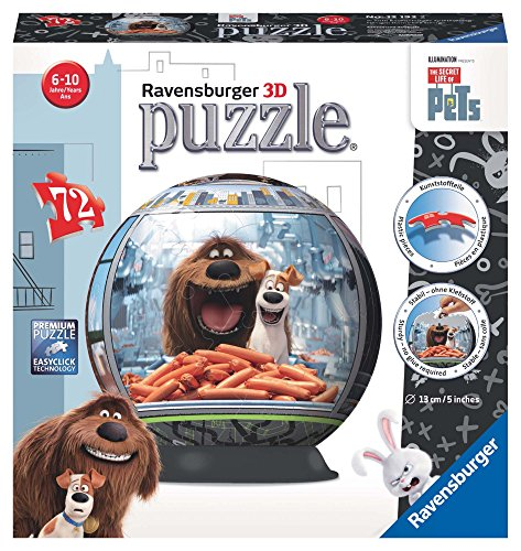 Ravensburger Italy- The Sectret Life of Pets Puzzle 3D, 12192
