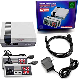 Hawiton Retro Game Console HDMI for TV, 1080P HD Classic Handheld Game Console Built in 621 Games with 2 NES-Style Classic...