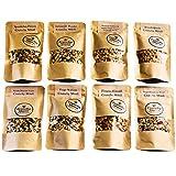 Crunchy Queen Knusper-Müsli Probierpaket, 7x 80 g, +1x 50g Müsli Granola vegan & palmölfrei (610g)