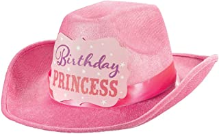 Amscan Birthday Princess Cowboy Hat - 396777, Pink