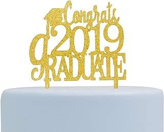 Finally Acrylic Cake Topper Congrats Grad Cake Topper,Class of 2019 Graduation Party Decorations Supplies