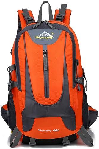 ZUKN Alpinisme Sac à Dos, Multifonctionnel 40L Décontracté Sac à Dos en Plein Air portable Trekking Sac à Dos étanche voituretable Camping Voyage Daypack