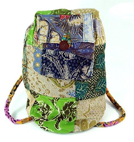 Guru-Shop Rucksack Patchwork, Herren/Damen, Mehrfarbig, Baumwolle, Size:One Size, 48x20x18 cm, Ausgefallene Stofftasche