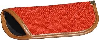 デンマーク、クヴァドラ社「mina perhonenミナペルホネン」の皆川明氏がデザインした生地を使用したメガネケース おしゃれ スリム 赤