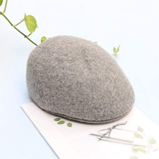 SHENTIANWEI New Winter Female British Retro Benn Beret Forward Cap hat Korean Version of Japanese Wild Child Tide (Color : Grey, Size : Adjustable)