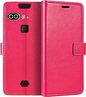 AGM X2 plånboksfodral, premium PU-läder magnetiskt flippfodral med korthållare och ställ för AGM X2 SE