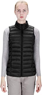 DISHANG Vest Jacket for Women Winter Puffer Vest Lightweight Outerwear with Pockets Casual Outdoor Sports Insulated Gilets