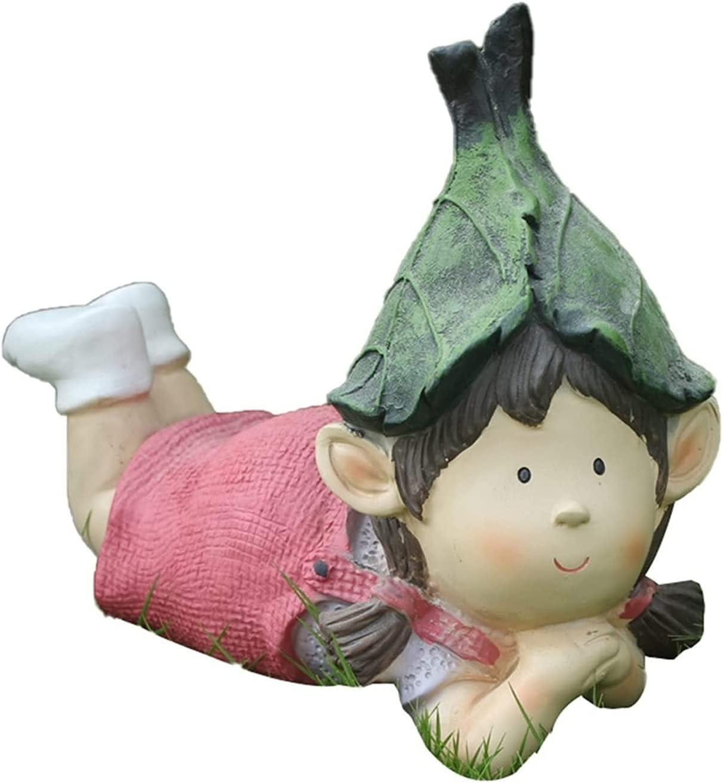 Garden Statue Figurine Waterproof Cute Fu Child Resin Figurines San Jose Mall Low price