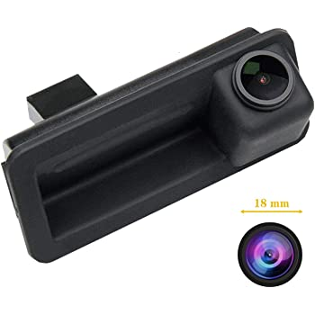 ,Rear View reverse parking Camera for Mondeo Fiesta ST S-Max Focus 2C 3C Land Rover Freelander Range Rover Misayaee Backup Camera with Tailgate Handle for Universal Monitors RCA