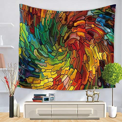 Arazzo geometrico colorato appeso a parete arazzo celeste hippie decorazione dormitorio arazzo psichedelico a6 180x200cm