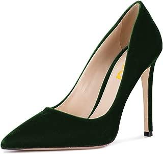 Women Formal Stiletto High Heels Pumps Pointed Toe Velvet Slide Office Lady Shoes Size 4-15 US
