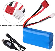 Innovateking 2s Lipo Battery 7.4V 2000mAh 20C T Plug Female Connector with USB Battery Charger for RC Car Off Road Truck
