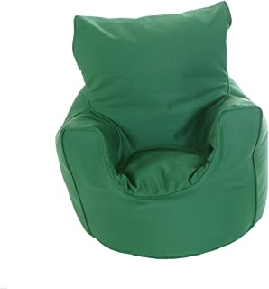 Kiddies Bean Bag Seat Arm Chair With Beans British Racing Green
