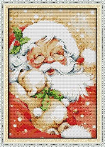 benway compté point de croix Père Noël 37 x 37 x 50 cm