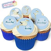 24 Fabulous Edible Wafer Cake Toppers: Stork- It's a Boy!