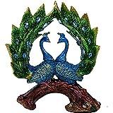 J.Mmiyi Pollo Figura Estatua Decoracion, Exquisito Animal Escultura Decorativa para Boda, Hogar, Oficina, Elegante, Azul
