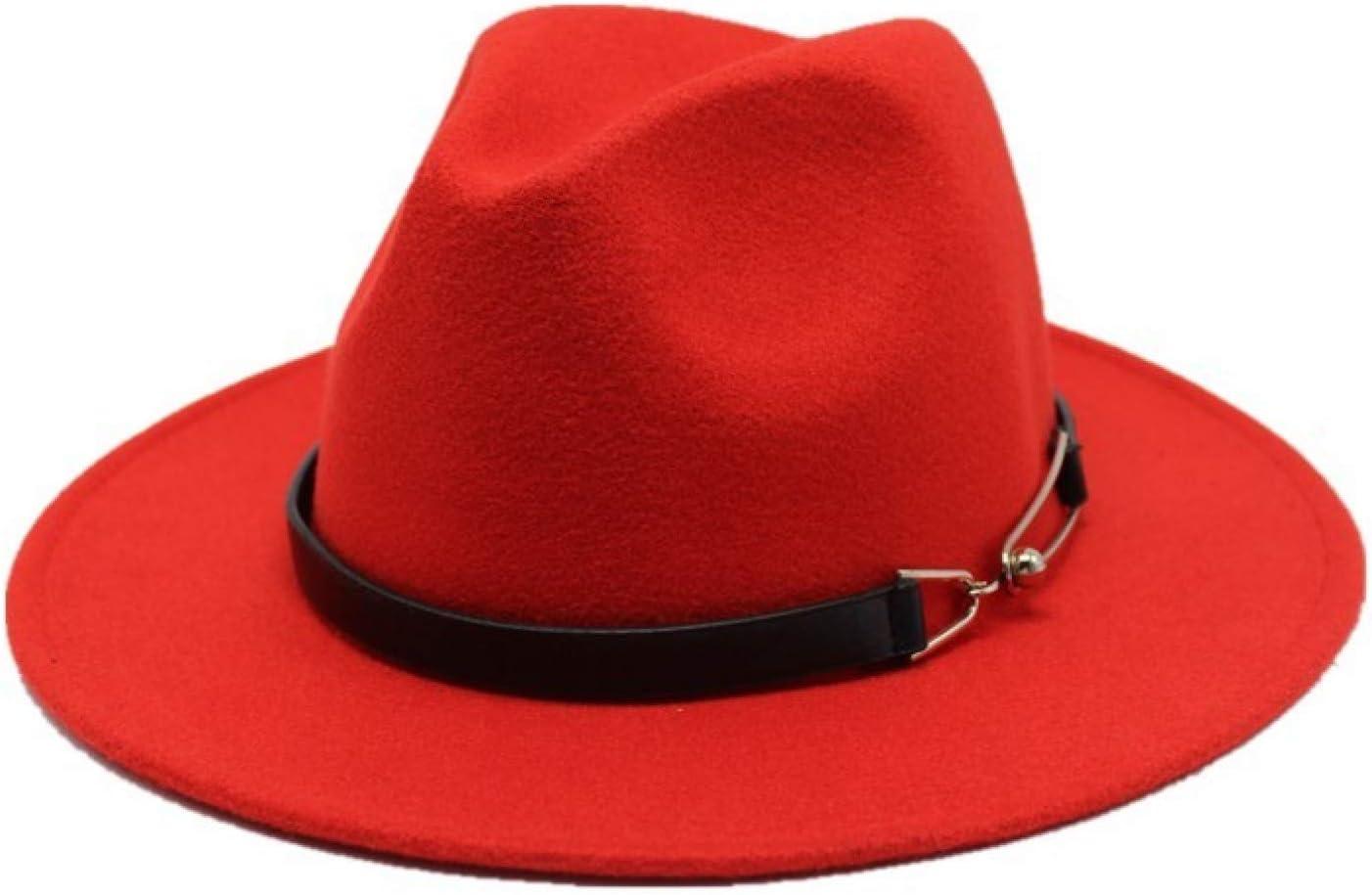 BAJIE Fedora Autumn Women'S Fashion Top Hat, Jazz Hat, Winter Fedora Hat, Wool Hat, New Black Female Hat