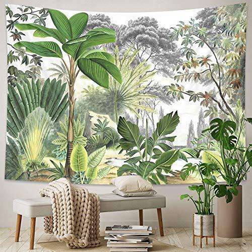 Tapiz de planta tropical colgante de pared hoja de palma patrón de flor tapiz bohemio decoración del hogar tela de fondo a1 130x150cm