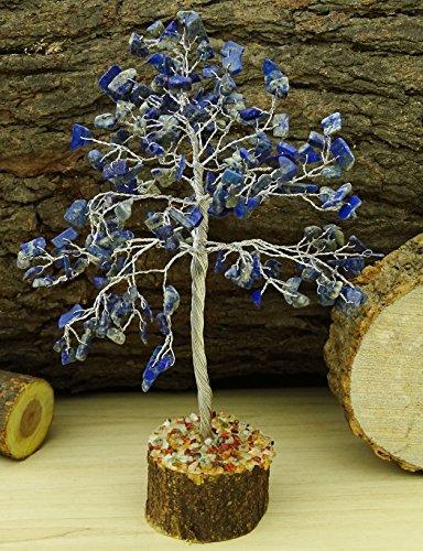 Reikiera Lapislazuli Edelstein Baum Feng Shui Reiki Stein Spiritual Tischdekoration - Silberdraht