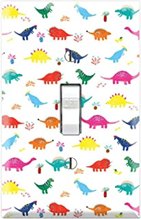 Single Toggle Wall Switch Cover Plate Decor Wallplate - Dino Dinosaurs