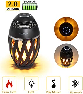 LEDMEI Led Flame Speakers, Flame Torch Atmosphere Speaker Bluetooth 4.2 Wireless Portable Outdoor HD Audio Waterproof Speaker with LED Flickers Warm Night Lights for iPhone/iPad/Android