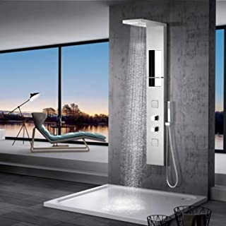 Caledonia Thermostatic Stainless Steel Shower Panel with Hand Shower