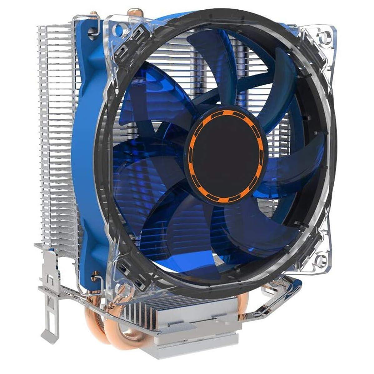 muxiao CPU Fan Cooler CPU Heatsink with Two Copper Pipes Ultra-Silence CPU Radiator CPU Fan 1151/1155 35Cfm CPU Cooler Computer for Intel&AMD