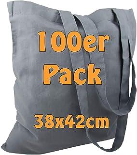 Cottonbagjoe Baumwolltaschen   38x42 cm   unbedruckt   mit zwei langen Henkeln   bemalbar   Öktex 100 zertifiziert   Juteb...