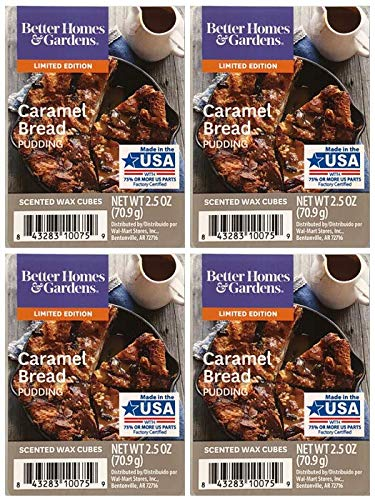 Better Homes and Gardens Caramel Bread Pudding Scented Wax Cubes - 4-Pack